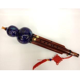 红木管景泰蓝葫芦丝