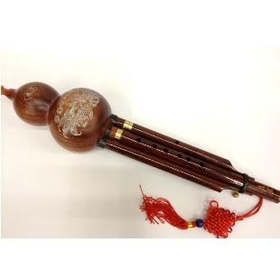 纯红木葫芦丝