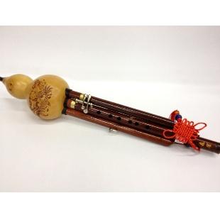 红木管天然葫芦丝加键